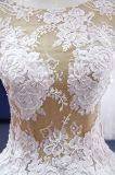 Do corpete superior do laço de Champagne vestido de casamento inferior de Tulle
