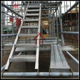 훅/미끄럼 저항 강철 건축 사다리를 가진 Q235 층계