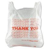 La stampa su ordinazione di plastica il Mic 12.5 lo ringrazia sacchetto della maglietta