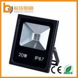 O branco fresco IP67 da luz da liga de alumínio Waterproof o projector ao ar livre do diodo emissor de luz 20W da iluminação