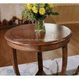 Redonda jantar da madeira contínua da forma para o café do restaurante (HW-1188T)