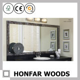 حديثة أبيض خشبيّة مرآة إطار لأنّ غرفة حمّام
