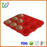 Fabrik-FDA-gebilligte Silikon-Kuchen-Muffin-Oberseite-Großhandelswanne