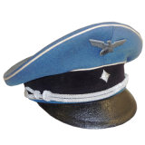 Kundenspezifischer hochwertiger Militärbrigadegeneral ragte Schutzkappe mit weißer Rohrleitung empor