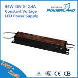 Alimentazione elettrica costante di tensione LED di alta efficienza 96W 40V 0~2.4A