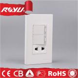 بالجملة عادة قوة آمنة كهربائيّة جدار مفتاح ومقبس تجويف