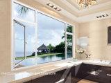 Eleganter Entwurfs-doppeltes glasig-glänzendes Flügelfenster-Aluminiumfenster