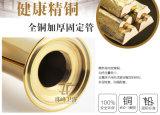 Kies Mixer van het Bassin van de Diamant van het Messing van de Luxe van het Handvat de Gouden (uit zf-M32)