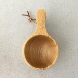 Teacup di legno della tazza di stile nordico con 2 il foro di tenuta 180ml