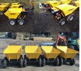 Carro de la granja, carretilla de la cosechadora, instrumentos de la agricultura y maquinaria agrícola