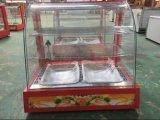 구부려진 유리제 데우는 진열장 또는 빵 진열장 (HW-827)