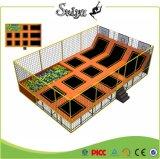 Kundenspezifisches Größen-preiswerte Kind-Innentrampoline-Bett für das Kind-Springen