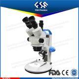 Microscopio tenuto in mano di stereotipia di Trinocular della lampadina di FM-45nt2l LED