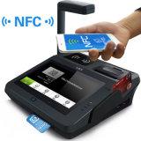 Lecteur terminal de code barres de position du SYSTÈME D'EXPLOITATION NFC Qr du code barres IC de paiement androïde de carte