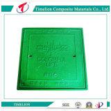 Tampas de câmara de visita leves MEADOS DE do quadrado da resina da fibra do dever de En124 B125