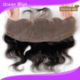 Baby Hair를 가진 Ear Lace Frontal Body Wave Hair에 브라질 Lace Frontal Closure 13.5X4 Ear