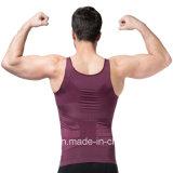 Adelgazando el chaleco para los hombres Bodyshaper para los hombres adelgazar al corsé de la compresión/a talladora del cuerpo que adelgazan la camiseta delgada del vientre inconsútil del chaleco para los hombres