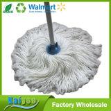 ينظّف بيضاء فائقة [ميكروفيبر] ممسحة أرضيّة مع مقبض خشبيّة