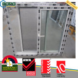 PVC/UPVC 플라스틱 이중 유리를 끼우는 슬라이딩 윈도우