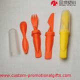 Insieme di plastica della coltelleria del cucchiaio della forcella esterna utile della lama