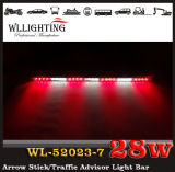 Красное White Arrow Warning Stick СИД Strobe Lights с Traffic Advisor