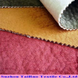 Home Textileのための浮彫りにされたSuede Velvet Backing Fabric