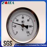 Thermomètre bimétallique de connexion arrière avec Thermowell en laiton