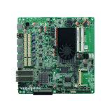 인텔 1037u 4 근거리 통신망과 2 섬유 광학적인 운반 우회 방어벽 네트워크 안전 어미판 6 COM, 6 USB