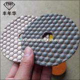 화강암 대리석 사암 콘크리트를 위한 Honeybomb 다이아몬드 건조한 닦는 패드