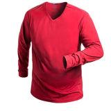Maglietta lunga di usura di ginnastica di sport del manicotto degli uomini di modo dell'OEM