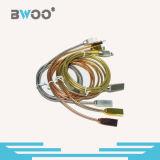 Brilhar o cabo de dados metálico do USB da mola para o telefone móvel