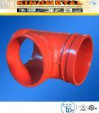 溝を作られる延性がある鉄火システムのためのティーの付属品を減らす