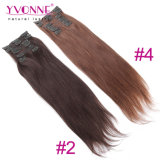 Straight naturale Clip in Human Hair Extensions per le donne di colore