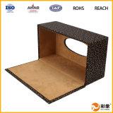 Caja de cuero decorativa del tejido, caja de cuero promocional del tejido de la PU