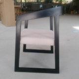 Silla de madera de los nuevos del diseño muebles del hogar con el asiento de la tela