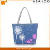 Branded Canvas Flowers Women Handbag Shoulder Tote Bags for Travel