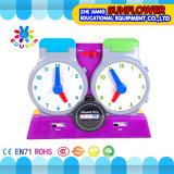 Brinquedos de relógios de professor de plástico, Brinquedos de aprendizagem, Brinquedos de máquinas para aprender crianças