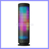 Rainbow Colors Pulse Portable Long Haut-parleurs Bluetooth Super Bass Boîte de son sans fil Flash intégré LED Light Speaker & Mic TF Aux USB Disck