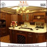 N et L Modules de cuisine européens de vente chauds en bois solide de type neuf