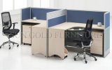 Doubles postes de travail de centre d'appels de bureau de Tableau de photos populaires de modèle (SZ-WS350)
