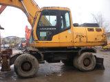 使用されたヒュンダイ210Wの車輪の掘削機