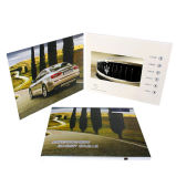 Video cartolina d'auguri personalizzata materiale di carta 4.3inch
