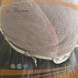 人間のバージンの毛の手によって結ばれる皮の上の女性の頭皮の上のかつら