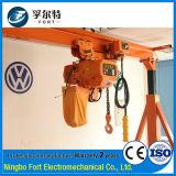 Élévateur électrique de levage de mini pièce inférieure superbe de la hauteur 3ton de la conformité 9m de la CE Hetl02-02