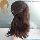 Parte dianteira judaica do laço da peruca do cabelo humano do Virgin para mulheres Ib Brown