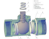 Двухсторонними шариковый клапан /Three моторизованный дорогами латунный