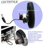 Motor de cubo de silla de ruedas con engranaje sin escobillas DC de 12 pulgadas con freno Electro Magentic
