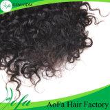 最上質のねじれた巻き毛のブラジルの人間の毛髪またはバージンの毛の拡張よこ糸