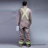 Uniforme 100% longo do Workwear da segurança da luva da parte dianteira do fecho de correr do algodão (BLY1003)