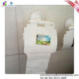 Sostenedor de papel del PVC del cuarto de baño con el lechón